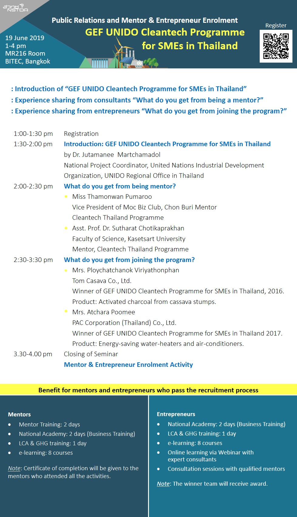 banner GEF UNIDO Cleantech Programme for SMEs in Thailand